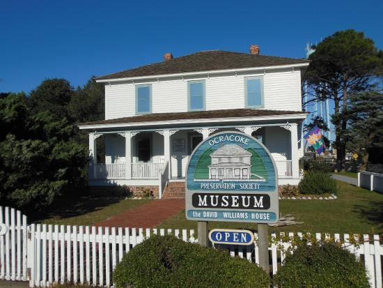 Ocracoke Preservation Museum: The front of the museum.