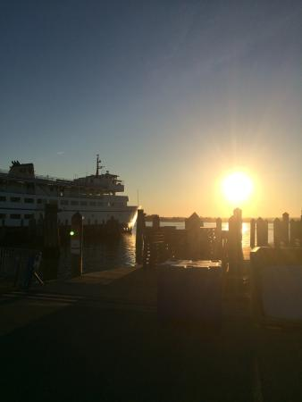 Block Island Ferry: Leaving Galilee at Sunset