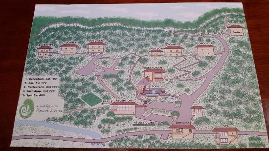 Lost Iguana Resort & Spa: Map of hotel
