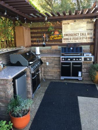 Shared use grill area