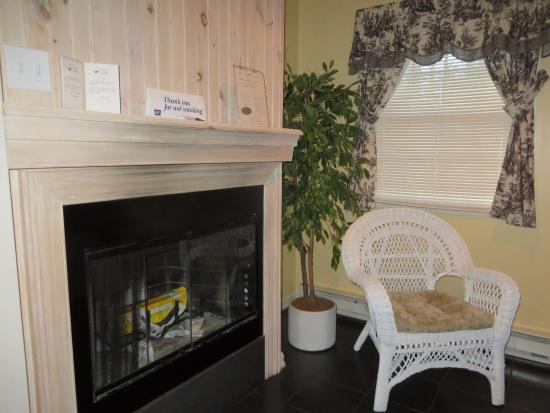 Cresco, Пенсильвания: fireplace