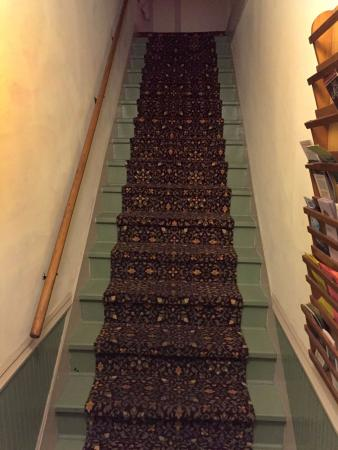 Trempealeau Hotel: Did you expect an elevator?  These stairs lead to the rooms.