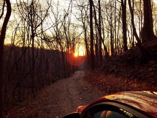 Amherst, فيرجينيا: Leaving the cottage (during sunrise)