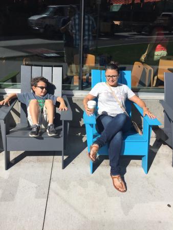 Northern Arizona University: Sitting outside Starbuck