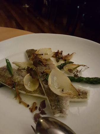 The Boathouse on Blackwattle Bay: King Geroge Whitting Asparagus mushroom
