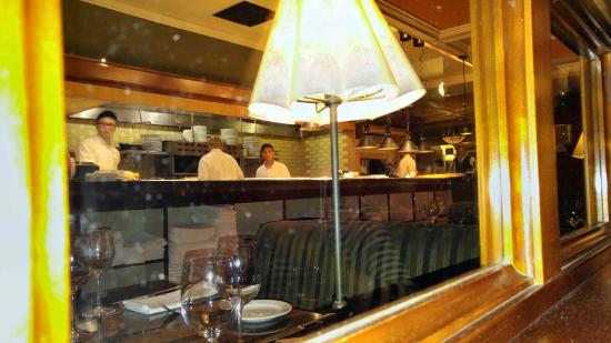 """Lark Creek: """"View from our table where they prepare your food"""""""