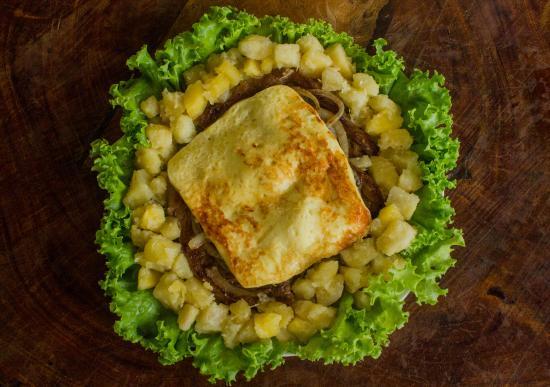 Picanha c queijo coalho e aipim manteiga