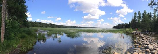 Headwaters Science Center: Panoramic view of the Mississippi headwater
