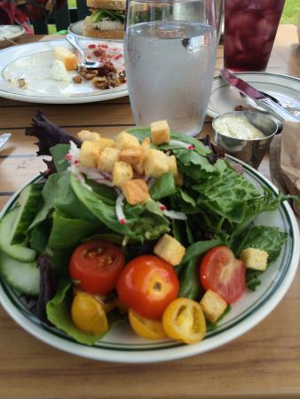 Seal Harbor, ME: Yummy salad at Jordan Pond House