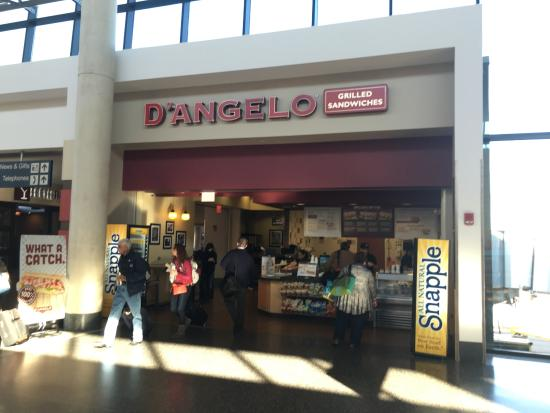 D'Angelo at the Bradley airport