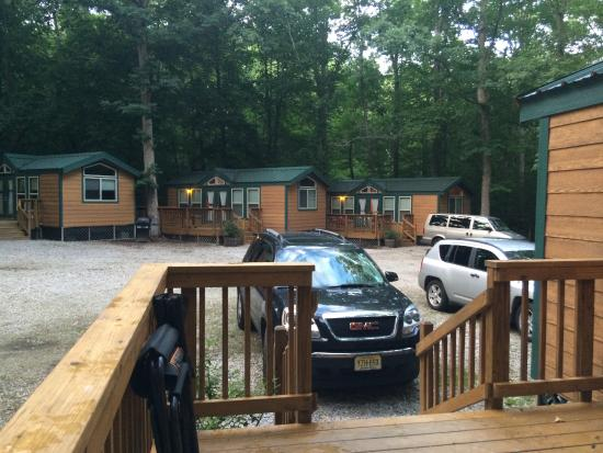 Williamsburg KOA Campground: View of other cabins from our cabin