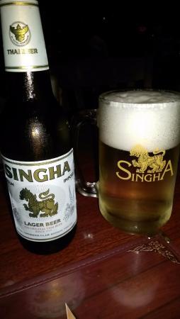 Siam Cuisine : Singha beer