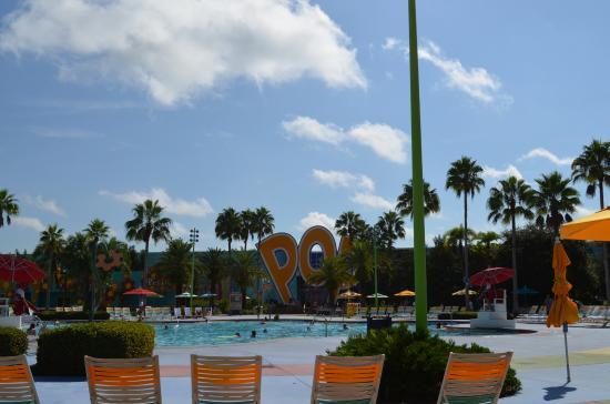 Disney's Pop Century Resort: piscine fleur
