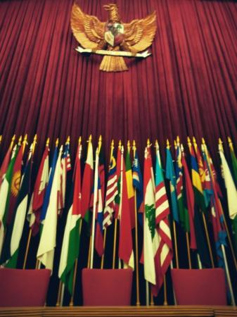 Musée de la conférence afro-asiatique : Bendera negara negara peserta KAA