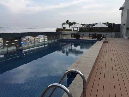 View of swimming pool 1 picture of radisson hyderabad - Swimming pool construction cost in hyderabad ...