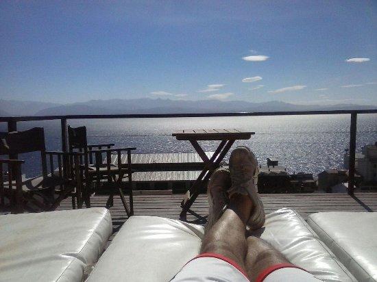Terraza Y Lago Picture Of Hostel Inn Bariloche San Carlos