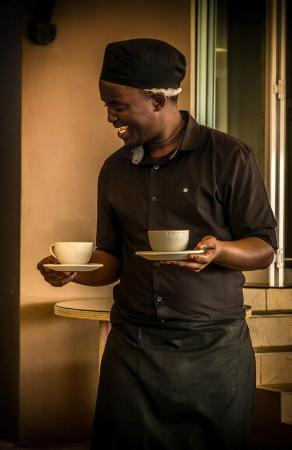305 Guest House: Amazing staff in our coffee shop & dining area
