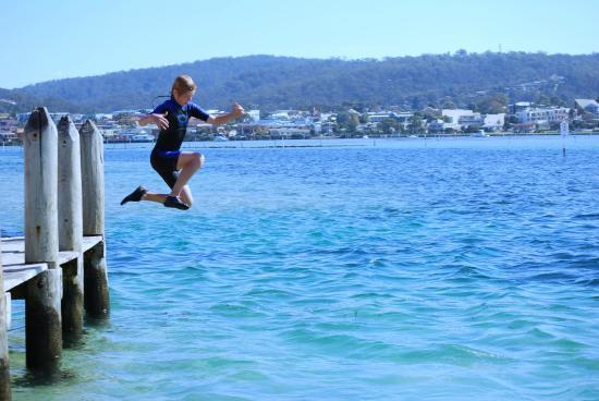 The Peninsular Merimbula : Jump off the Mitches Jetty