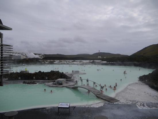 Grindavik, ไอซ์แลนด์: 上から見た感じ