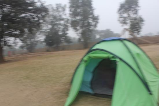 tent pitching at shikhar adventure park