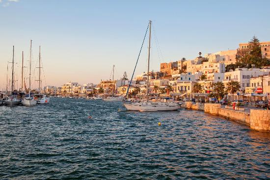 The port of Naxos island