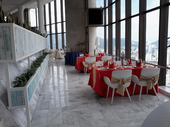 Top View Restaurant Lounge Elegant Dining