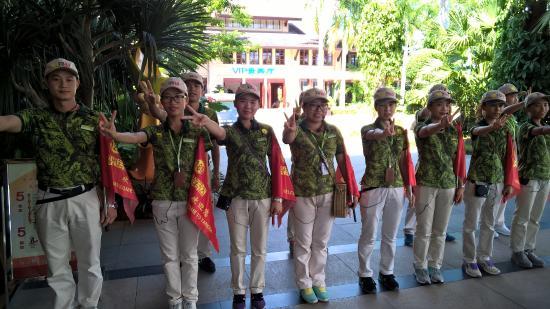 Yanoda Rainforest Yihao Resort: Так встречают всех входящих!
