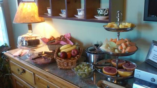 The Percy Inn: Some of the breakfast items