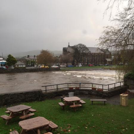 Rainy day in Kendal.... view from the restaurant