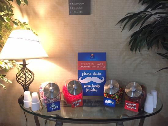 Comfort Inn University: The candy jars!!!
