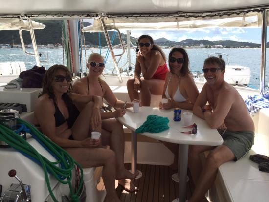Simpson Bay, St Marteen/St. Martin: Nice people on board...the lovely ladies from maine