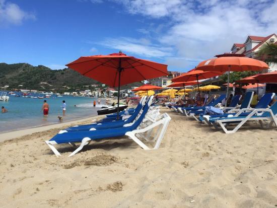 Simpson Bay, St. Martin/St. Maarten: Lunch on Grand Case beach