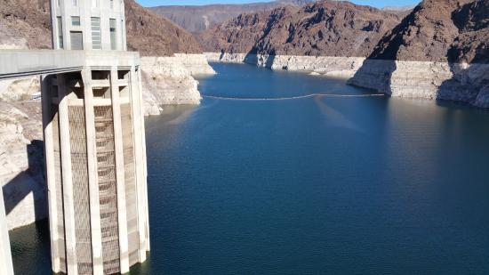 Intake tower picture of hoover dam tour company las for Hoover dam motor coach tour