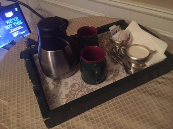 Park Place Bed & Breakfast: Coffee in the morning