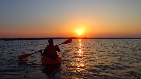 Rushing Waters Adventures Paddling Into A Beautiful Sunset On East Africa