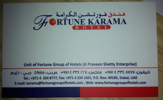 Fortune Karama Hotel Address