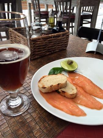 Santino Polanco: Muy rico el carpaccio de salmon