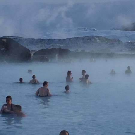 Grindavik, ไอซ์แลนด์: In the lagoon