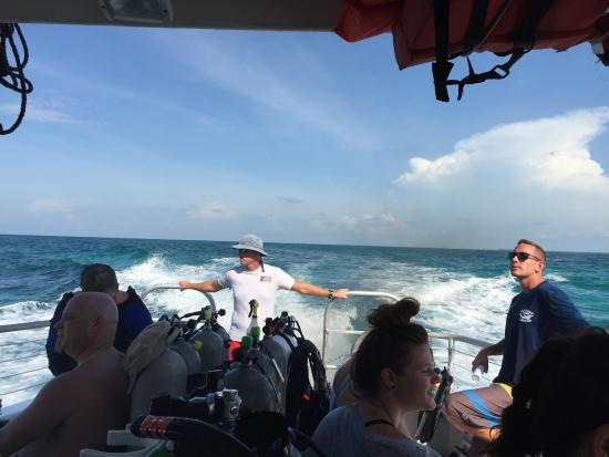 Hall's Diving Center: On the boat