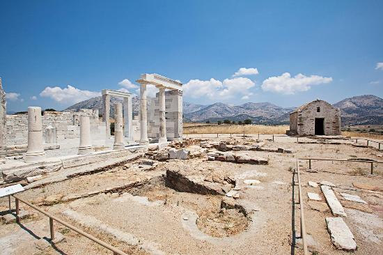 Naxos, Greece: The Temple of Demeter.