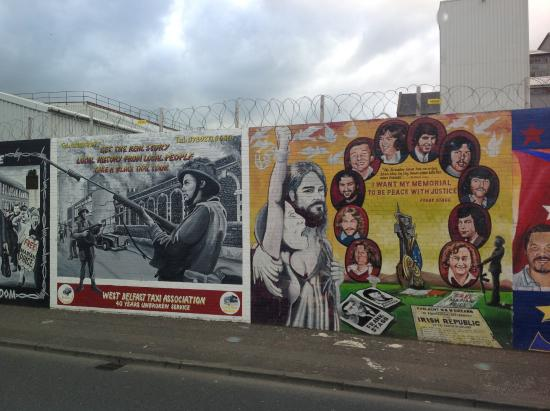 Picture of belfast mural tours belfast for Belfast mural tours