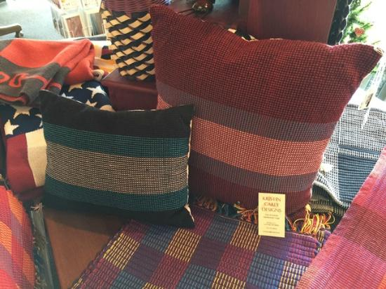 Dockside Gifts: Hand Woven Pillows Made on Madeline Island