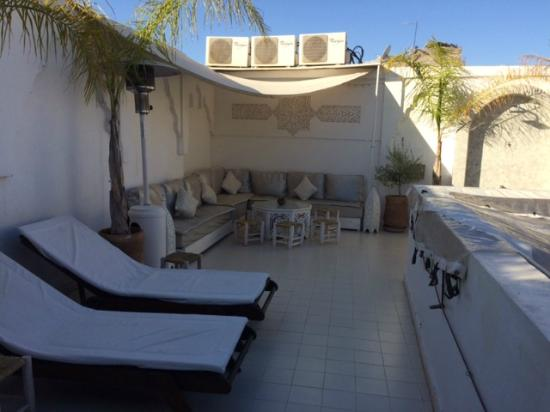 Terrace at Riad Aguaviva
