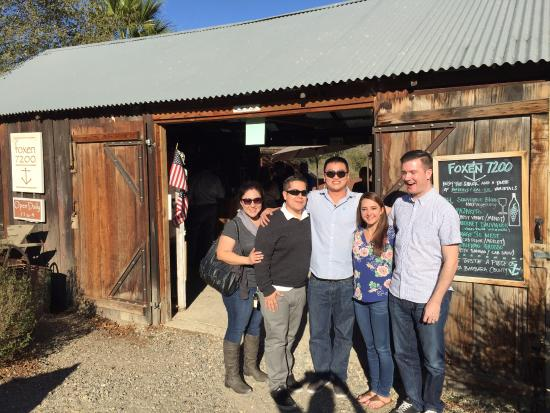 Foxen Vineyard: enjoying the shack