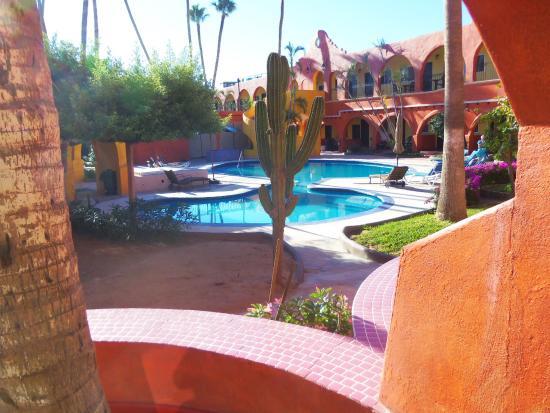 our patio view picture of hotel mar de cortez cabo san. Black Bedroom Furniture Sets. Home Design Ideas