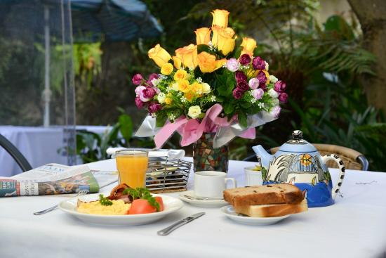 Sydney Harbour Bed and Breakfast: Garden Breakfast