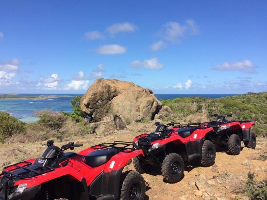 Oyster Pond, St-Martin/St Maarten: Enjoy Splash in the Sun deluxe ATV tours on a brand new, powerful ATV