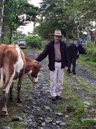 Colonia Virgen del Socorro, Kosta Rika: Cow whisperer