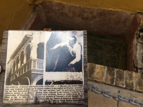 Jewish Cultural Historical Museum : The ritual bath and historical plaque