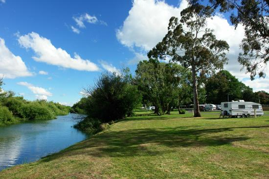 Longford Riverside Caravan Park: A view from sites 59-73